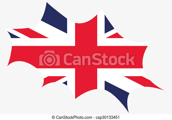 Explosion wit the flag of United Kingdom - csp30133451