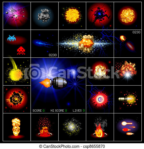 explosions and special effects - csp8655870