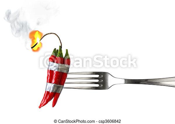 Explosive Food - csp3606842