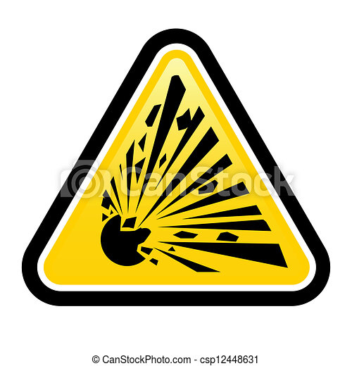 Explosive Hazard Sign - csp12448631