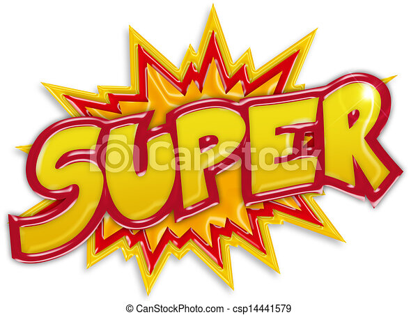 explosive super label isolated on white background - csp14441579