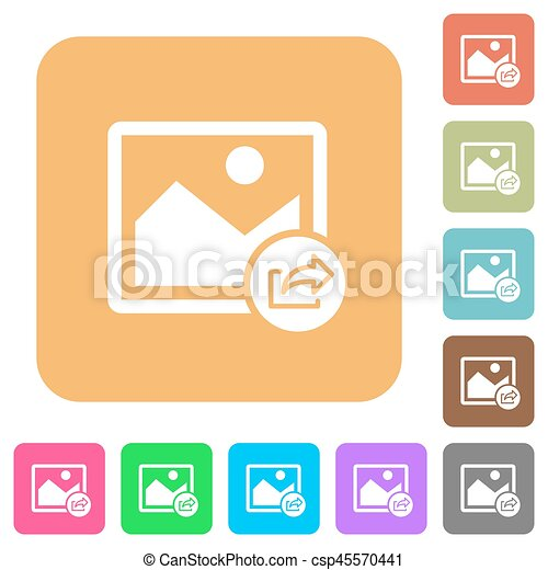 Export image rounded square flat icons - csp45570441
