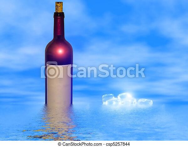 exposição, vinho tinto - csp5257844