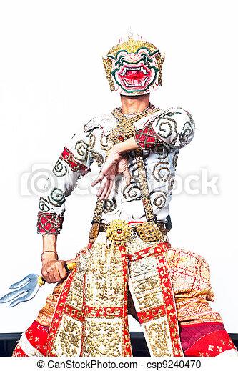 """Show cultural Tailandés Hanuman """"Khon-Thai"""" - csp9240470"""