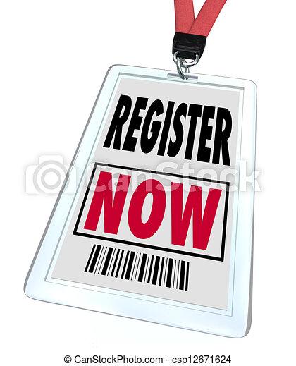 exposition, registre, -, commercer, enregistrement, maintenant, événement - csp12671624