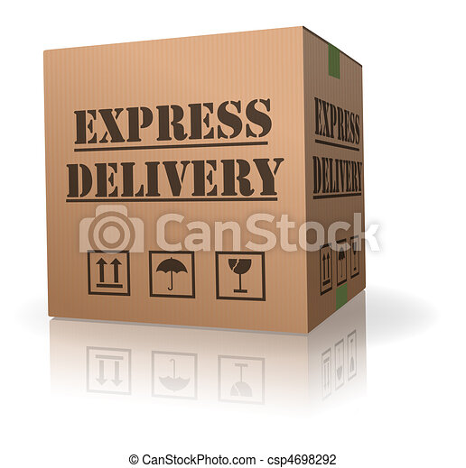 expres delivery cardboard box pack - csp4698292