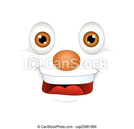 La expresión de la cara sonriente - csp23981984