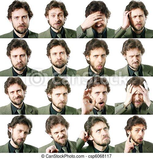 expressões, facial - csp6068117