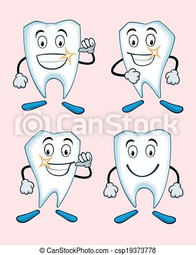 expressões, vário, dentes - csp19373778