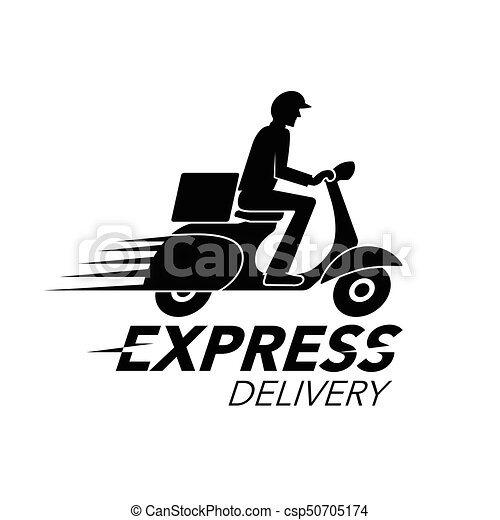 8b091f3b0421c Express delivery icon concept. scooter motorcycle service, order, worldwide  shipping. vector illustration.