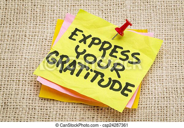 express your gratitude - csp24287361