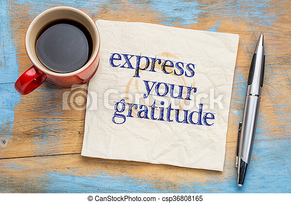 Express your gratitude - csp36808165