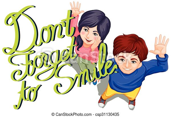 expression don t forget to smile illustration vectors search clip rh canstockphoto com free don't forget clipart don't forget elephant clipart
