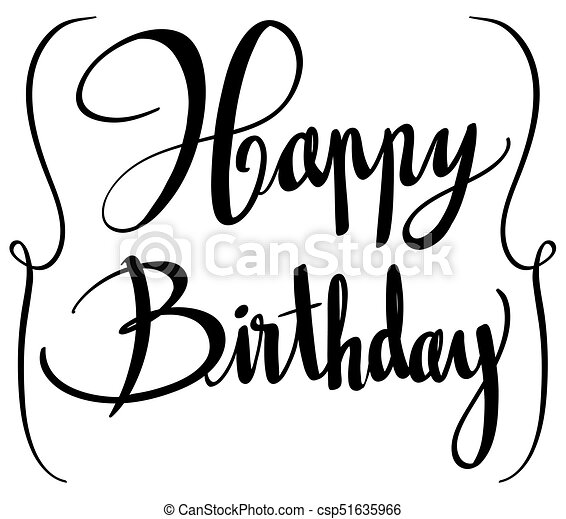expression for phrase happy birthday illustration clip art vector rh canstockphoto co uk birthday cake vector art happy birthday vector art