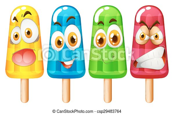 expression, popsicle, facial - csp29483764