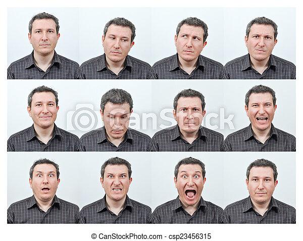 expressions, facial - csp23456315