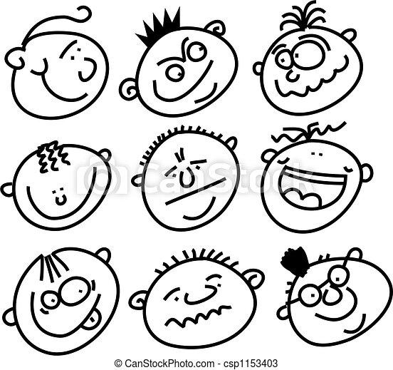 expressive faces - csp1153403