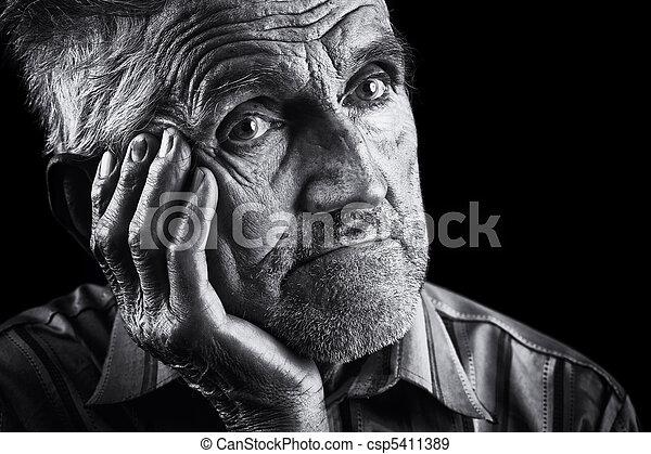 Expressive senior portrait - csp5411389