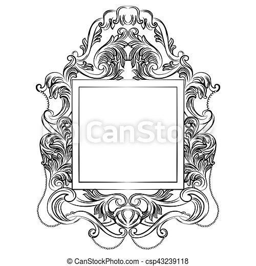 Exquisite Fabulous Imperial Baroque Mirror frame - csp43239118