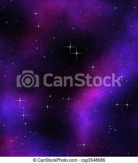 extérieur, ou, profond, espace - csp3548686