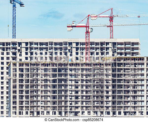 extérieur, time., construction, vue, bâtiment, logement - csp85208674