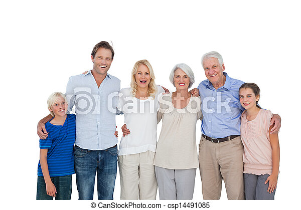 Extended family gesturing  - csp14491085