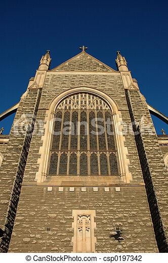 El exterior de la iglesia - csp0197342