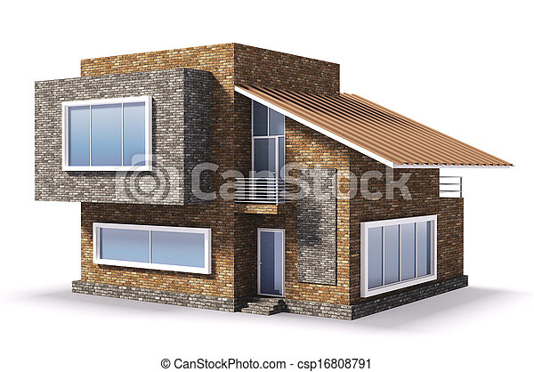 Exterior of modern house - csp16808791