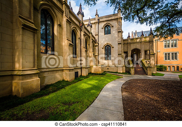 Exterior of the Trinity Episcopal Cathedral, in Columbia, South Carolina. - csp41110841