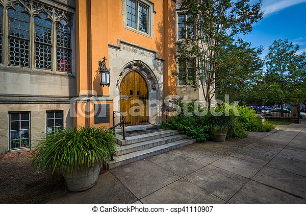 Exterior of the Trinity Episcopal Cathedral, in Columbia, South Carolina. - csp41110907