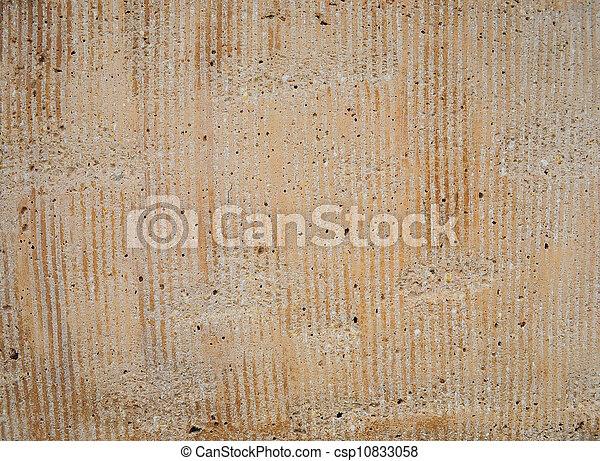 exterior stucco texture, gold tones - csp10833058