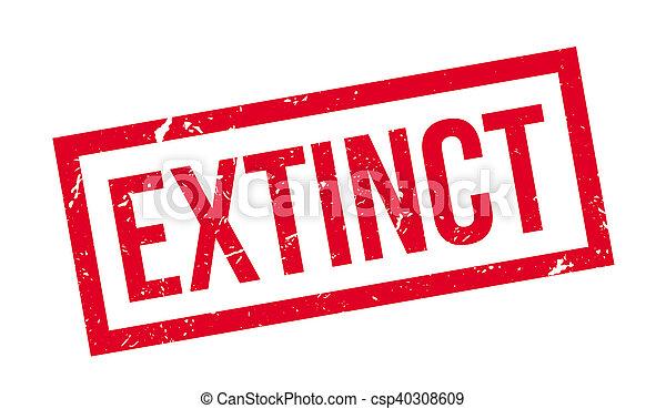 Extinct rubber stamp - csp40308609