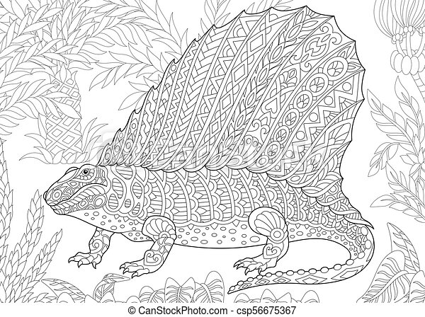 Procompsognathus Theropod Triassic Dinosaur coloring page | Free ... | 341x450