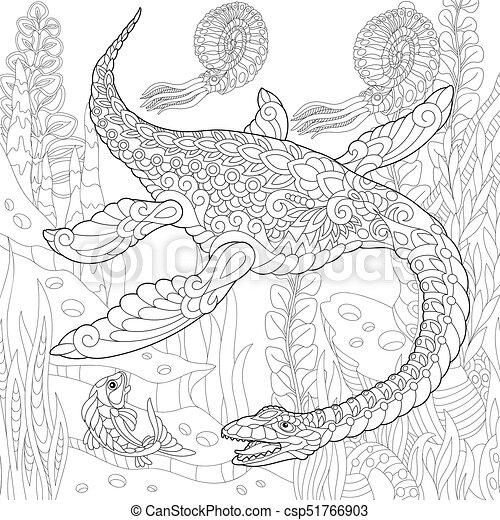 extinct species plesiosaurus dinosaur coloring page of plesiosaurus dinosaur of the mesozoic. Black Bedroom Furniture Sets. Home Design Ideas