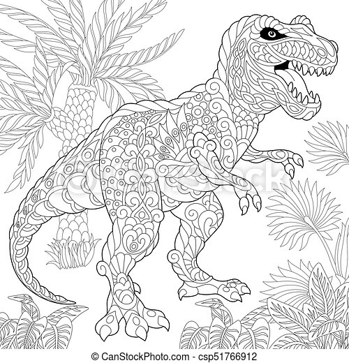 480 Dinosaur Coloring Book T Rex Best HD