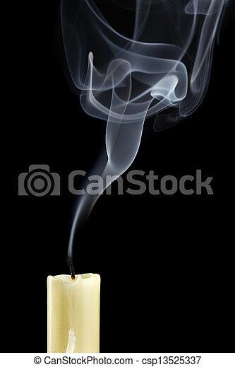 Extinguished candle - csp13525337