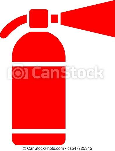 Extinguisher vector icon - csp47725345