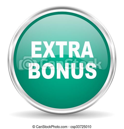 extra bonus blue glossy circle web icon - csp33725010