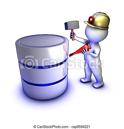 extraire, données, concept, caractère, base données - csp9594221