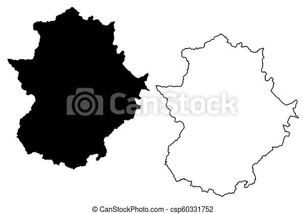 Map Of Spain Extremadura.Extremadura Map