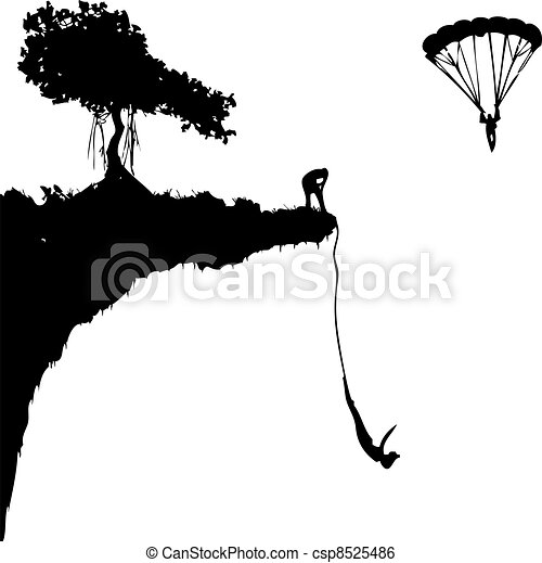 extreme jumping - csp8525486