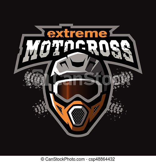 Extreme motocross logo. - csp48864432
