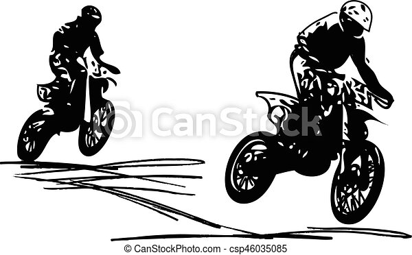 extreme motocross racer by motorcycle on abstract background vector rh canstockphoto com motocross bike clipart motocross helmet clipart