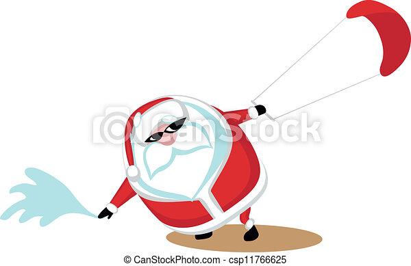 Extreme Santa - csp11766625