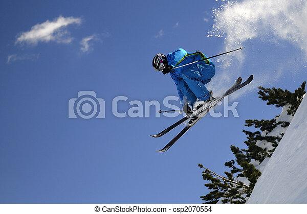 Extreme skier. - csp2070554