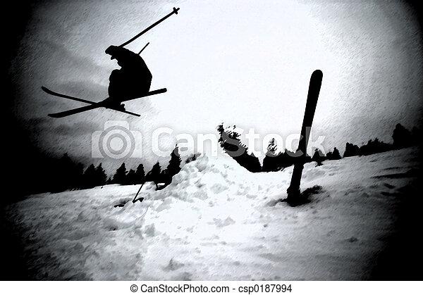 Extreme Skiing - csp0187994