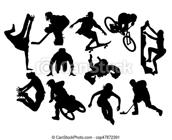 Extreme Sport Activity Silhouettes - csp47872391