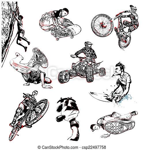 extreme sport illustration - csp22497758