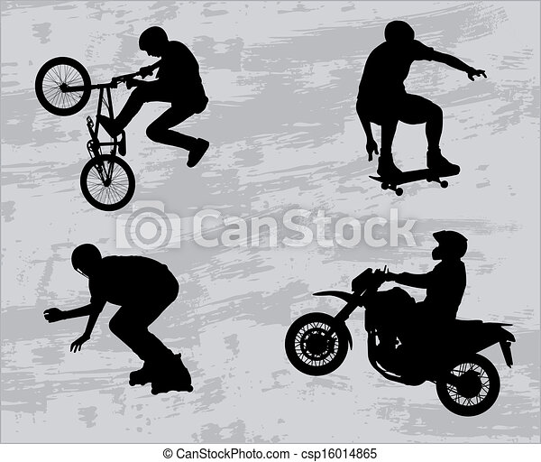 Extreme sport silhouettes - csp16014865