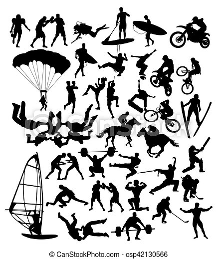 Extreme Sport Silhouettes - csp42130566